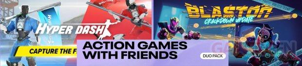 Jeux d'action entre amis bandeau