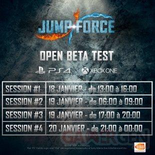 Jump Force bêta ouverte 01 10 01 2019