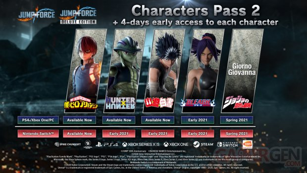 Jump Force Characters Pass 2 19 01 2021