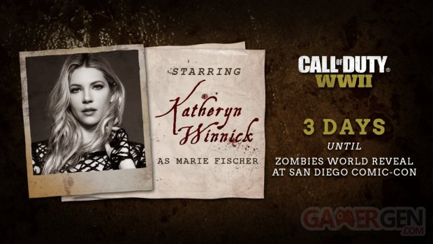 Katheryn Winnick Call of Duty WWII Zombies