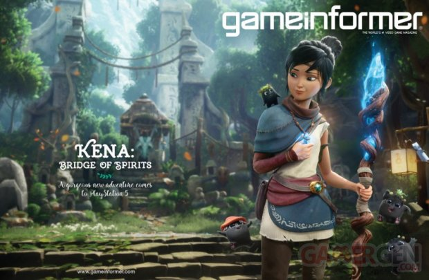 Kena Bridge of Spirits 08 09 2020 Game Informer cover