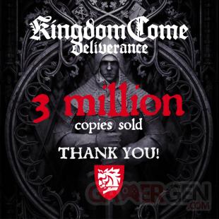 Kingdom Come Deliverance 3 millions ventes