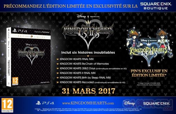 Kingdom Hearts HD 1 5 2 5 ReMIX édition limitée