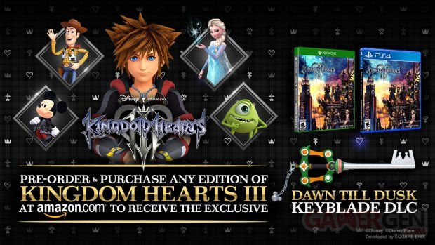 Kingdom Hearts III bonus précommande Amazon 26 11 2018
