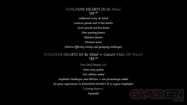 Kingdom Hearts III ReMind 10 12 2019