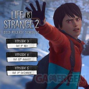 Life is Strange 2 dates sorties épisodes 21 03 2019