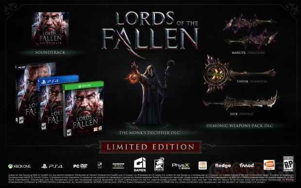 Lords of the Fallen 24 07 2014 édition limitée