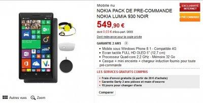 lumia 930 la date de sortie r v l e par des revendeurs gamergen com. Black Bedroom Furniture Sets. Home Design Ideas