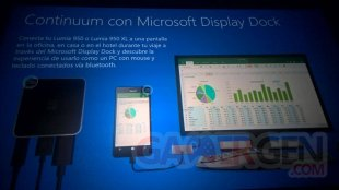 Lumia 950 950Xl Fuite Caractéristiques display Dock