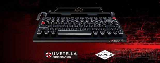 Machine à écrire clavier Resident Evil 2 Capcom Lexington 001