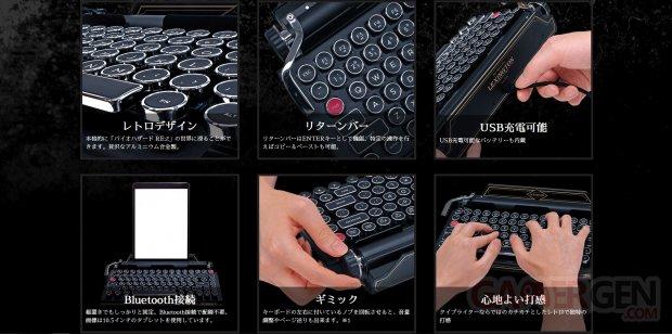 Machine à écrire clavier Resident Evil 2 Capcom Lexington 002