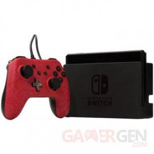 Manette filaire Nintendo Switch Plus Super Mario Rouge et noire (2)