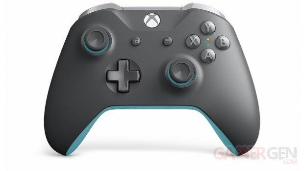 Manette sans fil Xbox – Grise et bleue (1)