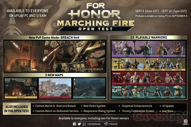 Marching Fire For Honor Beta test