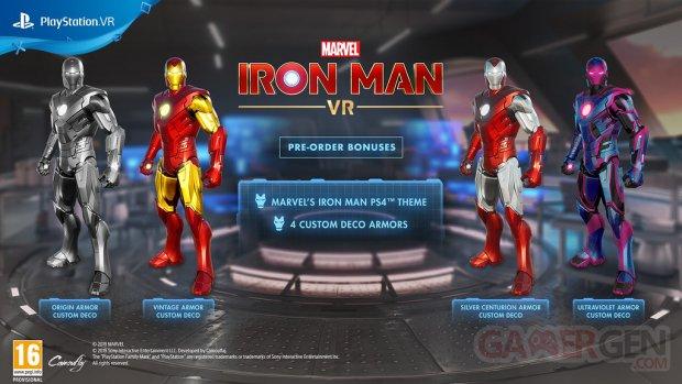 Marvel Iron Man VR bonus précommande 04 10 2019
