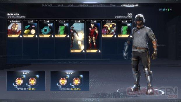 Marvel's Avengers cartes défis héros 31 08 2020