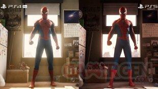 Marvel's Spider Man Remastered comparaison head