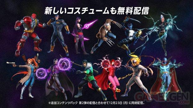 Marvel Ultimate Alliance 3 Black Order costumes décembre