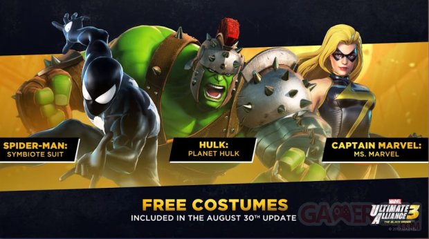 Marvel vs Capcom 3 Ultimate Alliance costumes free