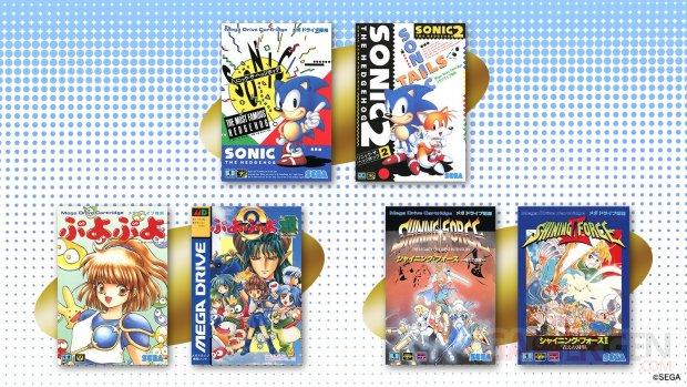 Mega Drive Mini SEGA jeux rétro Sonic Puyo Shining Force