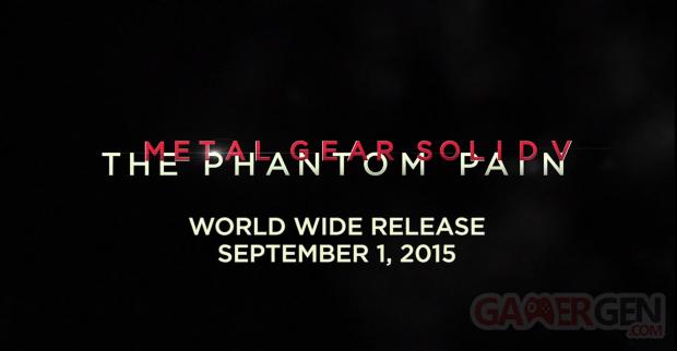 Metal Gear Solid V date de sortie
