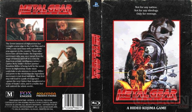 Metal Gear Solid V Phantom Pain VHS Jaquette Cover SMALL