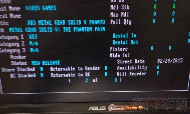 Metal Gear Solid V The Phantom Pain rumeur date de sortie 3