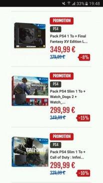 Micromania soldes promo bon plan PS4 pack