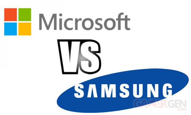 Microsoft vs Samsung versus head