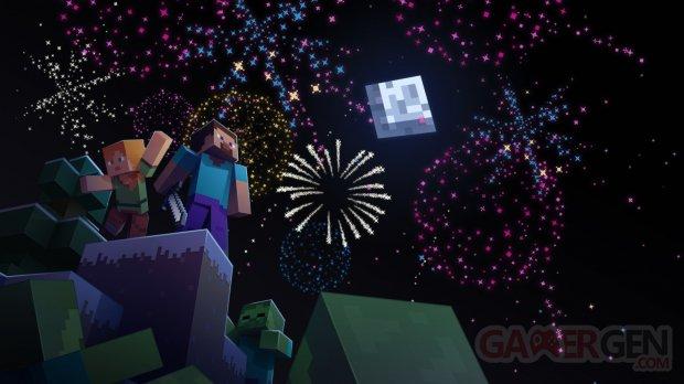 Minecraft celebration