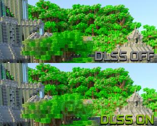 Minecraft DLSS 2