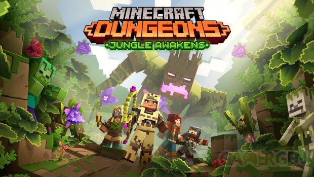 Minecraft Dungeons dlc announcement jungleawakens keyart