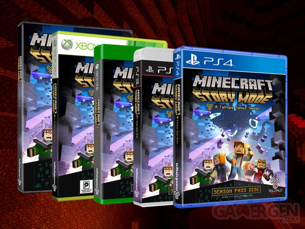 Minecraft Story Mode 16 09 2015 jaquettes
