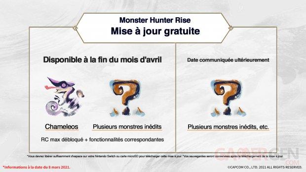 Monster Hunter Rise programme mises à jour