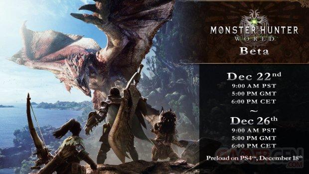 Monster Hunter World Bêta