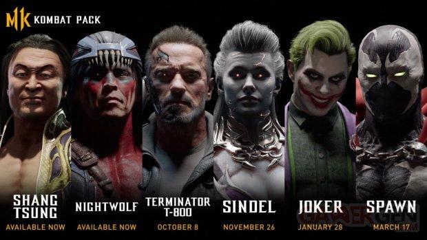 Mortal Kombat 11 Kombat Pack roster 21 08 2019