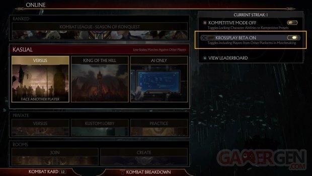 Mortal Kombat 11 Krossplay
