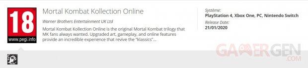 Mortal Kombat Kollection Online PEGI