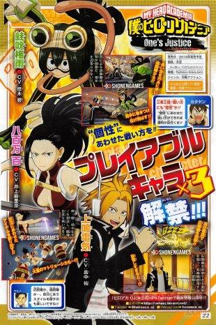 My Hero Academia Ones Justice scan Kaminari Momo Asui 16 03 2018
