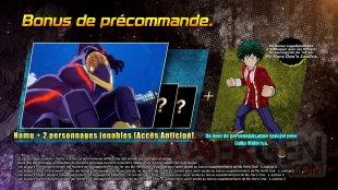 My Hero One's Justice 2 bonus précommande 16 12 2019