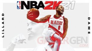 NBA 2K21 Damian Lillard cover athlete key art jaquette
