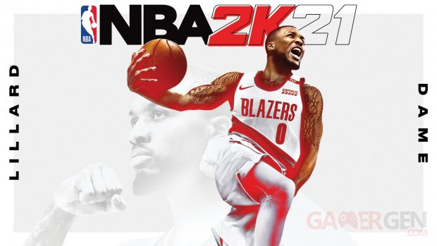 NBA 2K21 Damian Lillard cover athlete key art jaquette
