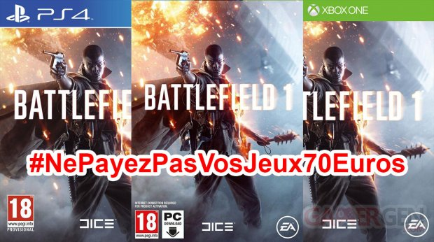 Ne Payez pas vos jeux 70 euros Battlefield 1