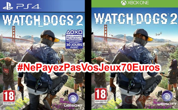 Ne Payez pas vos jeux 70 euros watch dogs 2