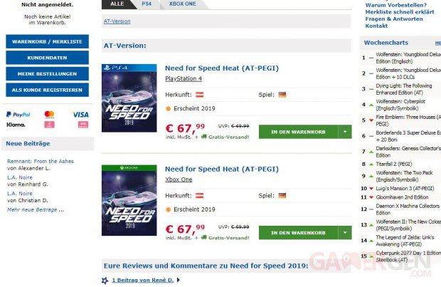 Need for Speed Heat Gameware