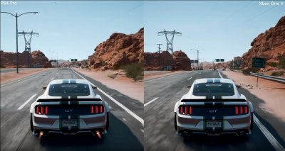 need for speed payback comparaison en vid o entre les versions ps4 pro et xbox one x. Black Bedroom Furniture Sets. Home Design Ideas