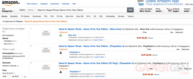 Need for Speed Rivals GOTY Edition Amazon
