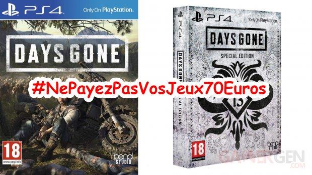 NePayezPasVosJeux70Euros   Days Gone