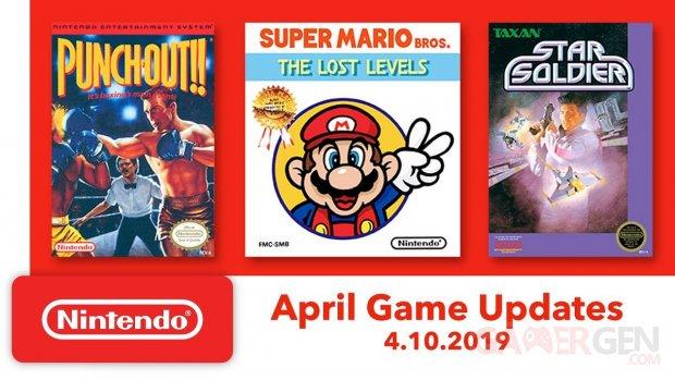 NES   Nintendo Switch Online mise à jour 2.4.0 jeux SP images titres