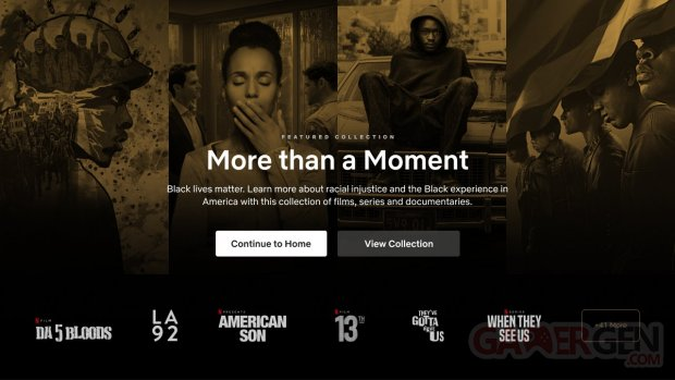 Netflix Black Lives Matter catégorie section films séries